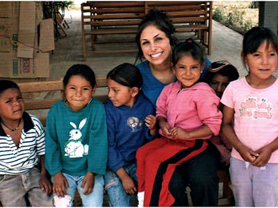 Dr Jamie with Tarahumara Indian kids in Mexico