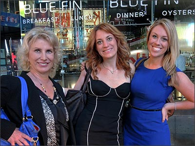 Dr Marie DiLauro with Tara and Kaitlin from ReachLocal on 42nd Street